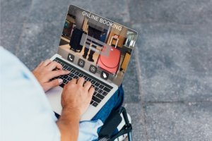 disabled person using a website